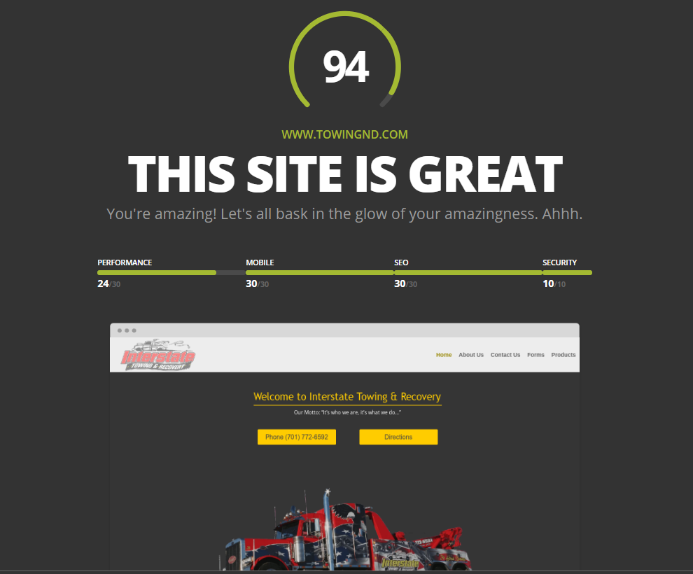 Towing Company After Website