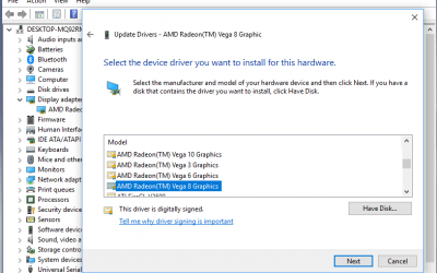 (Solved) – Crashing video driver Ryzen 5 2500U Vega 8 HP x360 laptop